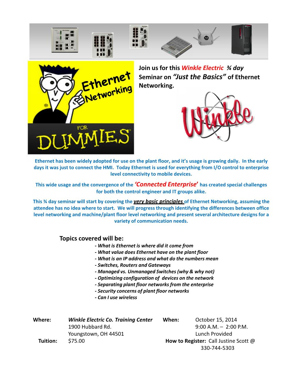 Ethernet For Dummies Class! | Winkle Electric Company, Inc.